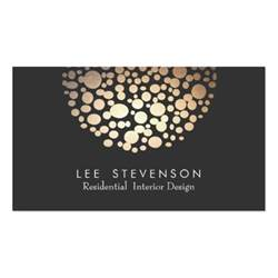 Lighting Card Interior Designer Lighting Black Modern Business Cards