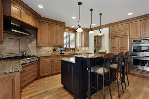 kitchen island with granite gourmet kitchens and cabinets hannegan construction