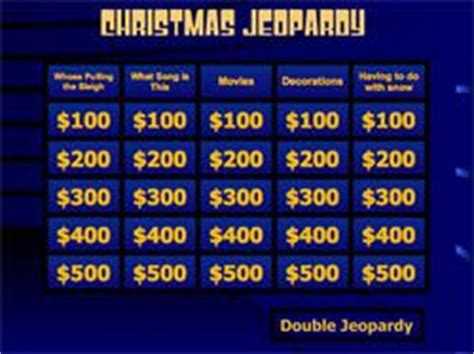 printable christmas jeopardy game 497 best images about christmas games to play on pinterest