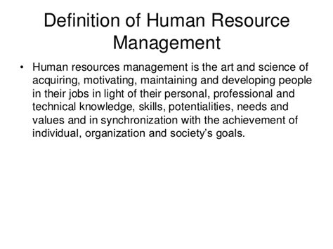 What Is The Meaning Of L by Definition Of Hr Mgt L1