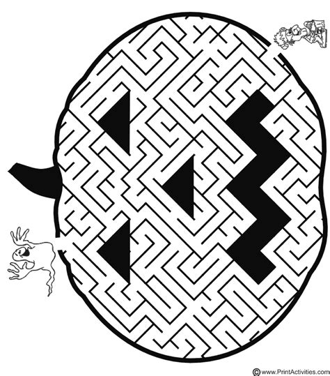 easy mazes coloring pages