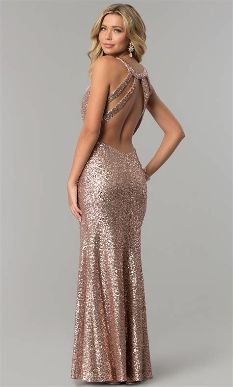 gold sequin open back prom dress naf dresses open back gold sequin prom dress promgirl