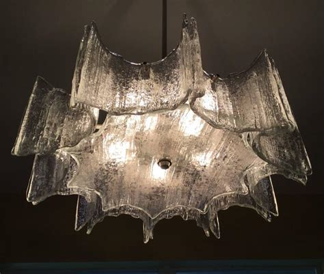 funky chandeliers funky texture glass vintage chandelier for sale at 1stdibs