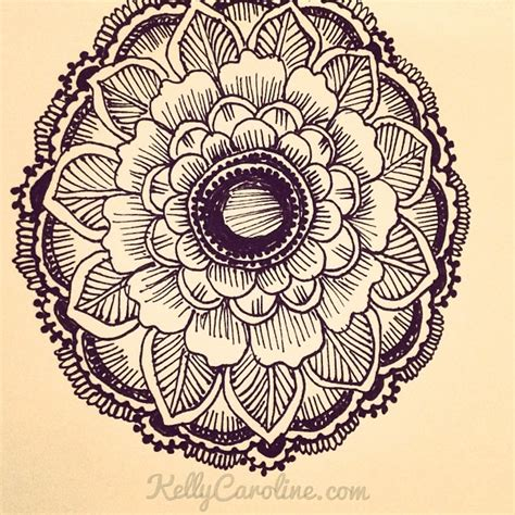 henna tattoo design of a mandala drawing by kelly