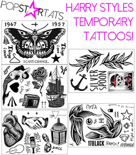 harry styles temporary tattoos pop news inspired temporary tattoos