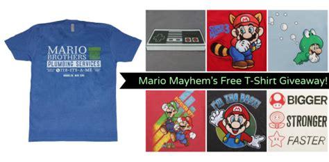 Free T Shirt Giveaways - mario mayhem free t shirt giveaway