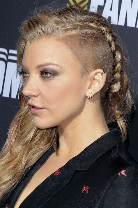 natalie dormer haircut natalie dormer wears a fierce braid comic con s mtvu