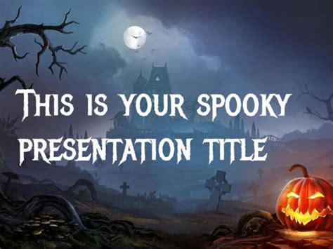 theme changer line halloween free google slides or powerpoint template for halloween
