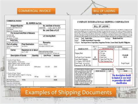 Air Shipping Documents