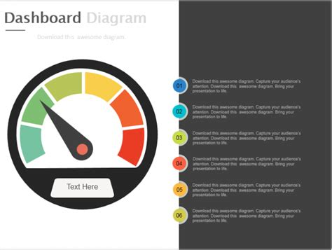 Powerpoint Tutorial 13 Make An Impressive Speedometer Speedometer Powerpoint Template