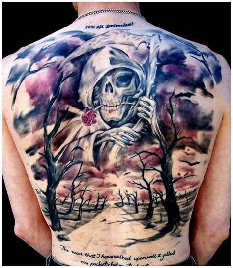tattoo back death death tattoos and designs page 76