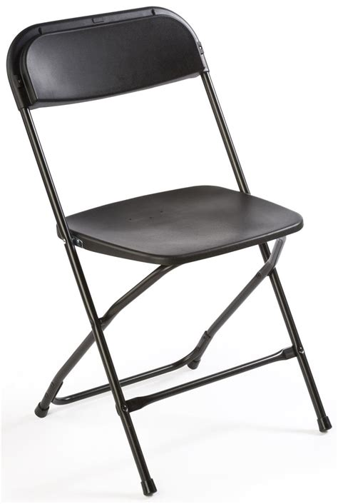 Black Plastic Folding Chairs by Plastic Folding Chair In Black Portable Event Seating