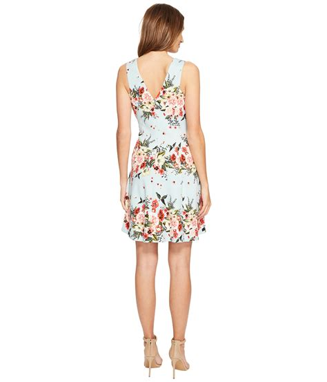 jessica simpson floral dress jessica simpson floral fit and flare dress at zappos com