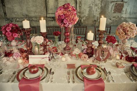Pink And Gold Table Setting by Table Settings Storyboard Wedding