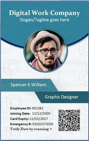 employee id card design template psd employee id card template microsoft word forget