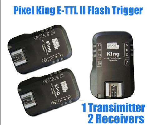 Sale Receiver Trigger Pixel King Canon Termurah blackfriday pixel king wireless radio e ttl ii e ttl flash trigger for canon dslrs flashes 1