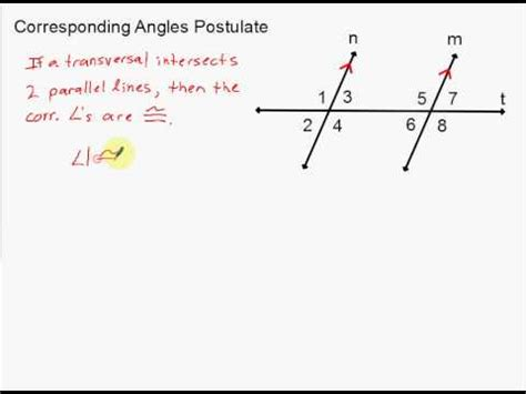 how do you indicate congruent angles in a diagram corresponding angles postulate and alternate interior