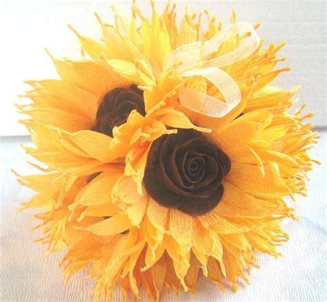 balls centerpieces wedding sunflower wedding hanging crepe paper flower balls