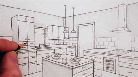 2 Point Perspective Interior Room by How To Draw A Room In Two Point Perspective Time Lapse