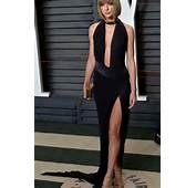 Taylor Swift Sexy Plunging Black Prom Dress Vanity Fair
