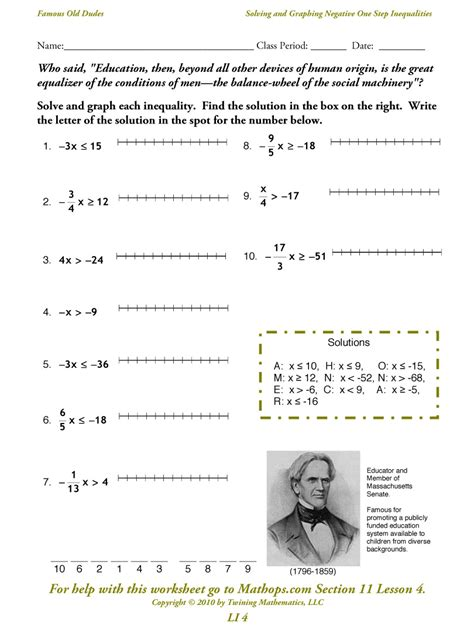 Solving And Graphing Inequalities Worksheet by Solving Two Step Inequalities Worksheet Lesupercoin