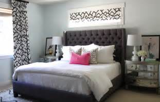 grey color upholstered headboard striped pattern