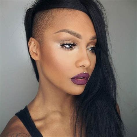 hair style for women with one side of head shaved 50 shaved hairstyles that will make you look like a badass