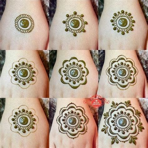 simple henna tattoo designs step by step simple mandala henna design step by step instagram rozehenna