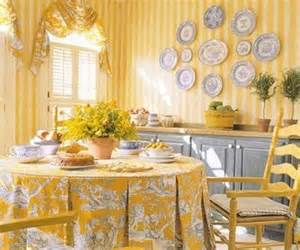 Yellow Walls Blue Curtains Decorating Country Ma Maison