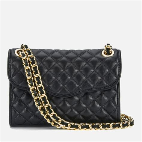 Minkoff Quilted Affair Black by Minkoff S Quilted Mini Affair Shoulder Bag Black Womens Accessories Thehut