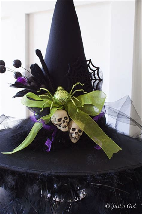 hat decorating ideas diy decorated witch hat