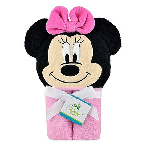Setelan Disney Minnie Mouse Pink bath towels gt disney 174 minnie mouse hooded towel in pink from buy buy baby