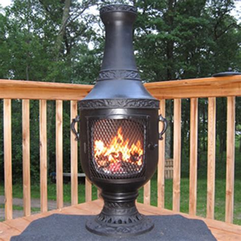 chiminea on deck chiminea venetian style outdoor fireplace chimenea