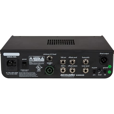Power Lifier Acoustic b300hd bass with 300w of class d power acoustic lification