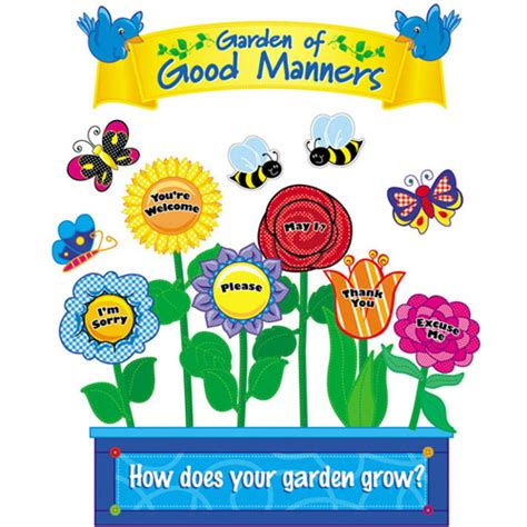 Nursery Rhymes Wall Stickers nothing beats good manners and respect