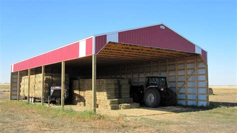Inexpensive Shed post frame hay shed in alberta bc saskatchewan