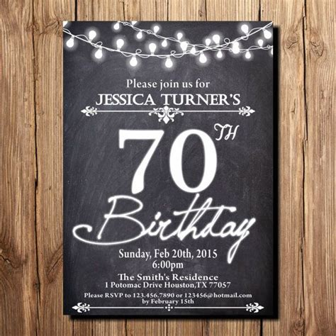 15 70th Birthday Invitations Design And Theme Ideas Birthday Party Invitations Templates 70th Birthday Invitation Templates