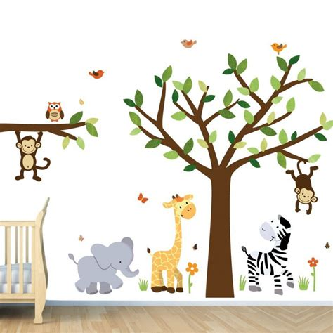 nursery safari wall decals decorating kid s room with interesting wall decals
