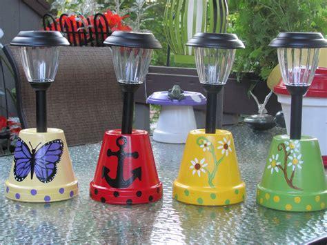 solar light crafts ideas solar light holders made by angela solar lights