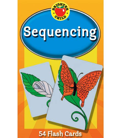 sequencing brighter child flash sequencing flash cards grade pk 2 carson dellosa publishing