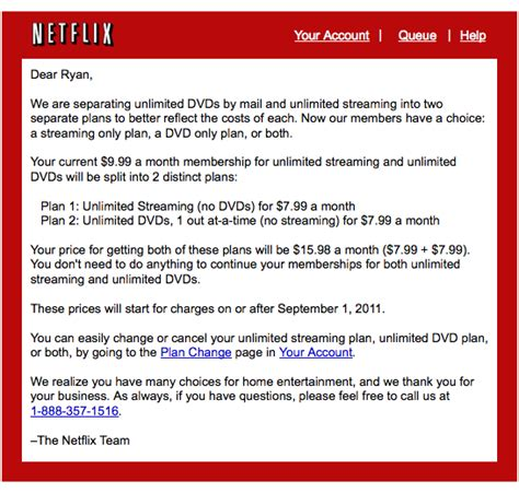 Customer Bad News Letter Sle How Netflix Could Made Bad News Better Business Growth Strategies