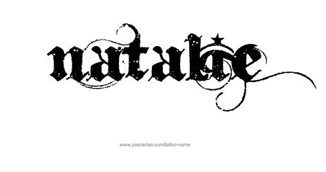 natalie tattoo natalie name designs