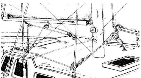 yacht rigging layout mid boom sheeting sails and rigging standing and running