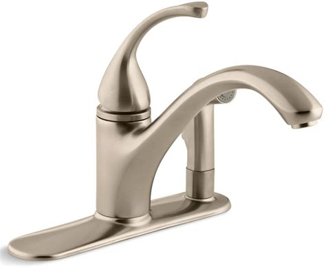 forte kitchen faucet kohler forte 174 single handle pullout with sidespray kitchen