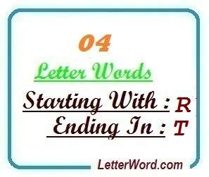 4 Letter Words Ending In T