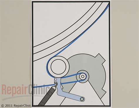 samsung dryer belt replacement diagram drive belt wp33002535 repairclinic