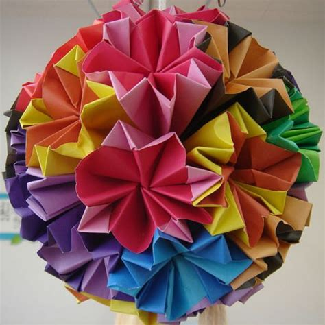 Origami Flower Balls - paper crafts how to make a kusudama craft handmade