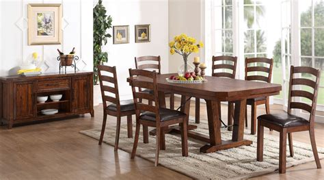 walnut dining room set lanesboro distressed walnut dining room set from new