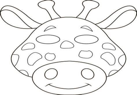 mowgli mask coloring page jungle animal templates grig3 org