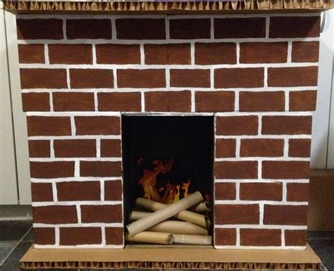 How To Make A Paper Fireplace - 12 tutorials to make a cardboard fireplace guide patterns